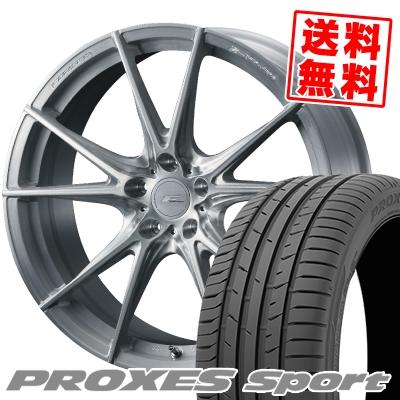 225/45R18 95Y XL TOYO TIRES トーヨー タイヤ PROXES sport プロクセス スポーツ WEDS F ZERO FZ-2 ウェッズ エフゼロ FZ-2 サマータイヤホイール4本セット