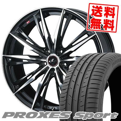 225/45R18 95Y XL TOYO TIRES トーヨー タイヤ PROXES sport プロクセス スポーツ WEDS LEONIS GX ウェッズ レオニス GX サマータイヤホイール4本セット【取付対象】