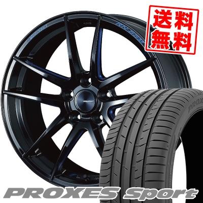 245/35R19 93Y XL TOYO TIRES トーヨー タイヤ PROXES sport プロクセス スポーツ WedsSport RN-55M ウェッズスポーツ RN-55M サマータイヤホイール4本セット