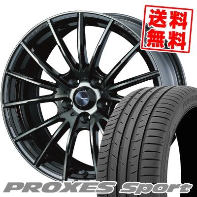 225/55R17 101Y XL TOYO TIRES トーヨー タイヤ PROXES sport プロクセス スポーツ WedsSport SA-35R ウェッズスポーツ SA-35R サマータイヤホイール4本セット【取付対象】