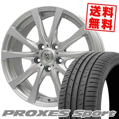 235/45R17 97Y XL TOYO TIRES トーヨー タイヤ PROXES sport プロクセス スポーツ TRG-SILBAHN TRG シルバーン サマータイヤホイール4本セット