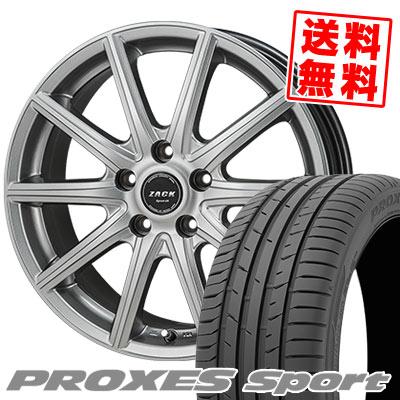 215/45R17 91W XL TOYO TIRES トーヨー タイヤ PROXES sport プロクセス スポーツ ZACK SPORT-01 ザック シュポルト01 サマータイヤホイール4本セット