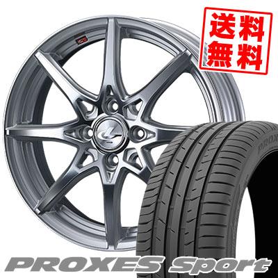 205/45R17 88Y XL TOYO TIRES トーヨー タイヤ PROXES sport プロクセス スポーツ weds LEONIS SV ウェッズ レオニス SV サマータイヤホイール4本セット