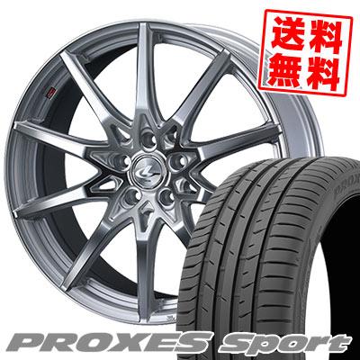 215/50R17 95W XL TOYO TIRES トーヨー タイヤ PROXES sport プロクセス スポーツ weds LEONIS SV ウェッズ レオニス SV サマータイヤホイール4本セット