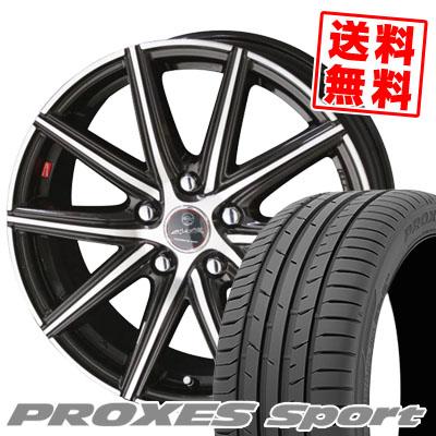 225/40R18 92Y XL TOYO TIRES トーヨー タイヤ PROXES sport プロクセス スポーツ SMACK PRIME SERIES VANISH スマック プライムシリーズ ヴァニッシュ サマータイヤホイール4本セット