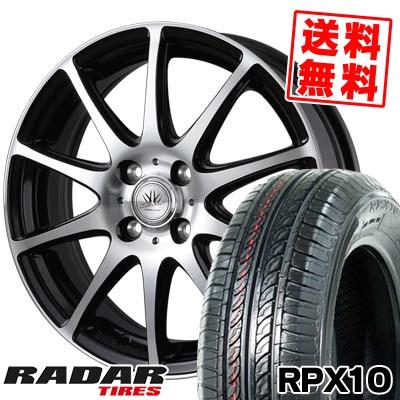 155/70R13 75T RADAR レーダー RPX10 アールピーエックス テン BADX LOXARNY SPORT RS-10 バドックス ロクサーニ スポーツ RS-10 サマータイヤホイール4本セット