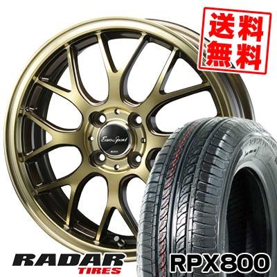 195/45R17 85W XL RADAR レーダー RPX800 アールピーエックス ハッピャク Eouro Sport Type 805 ユーロスポーツ タイプ805 サマータイヤホイール4本セット
