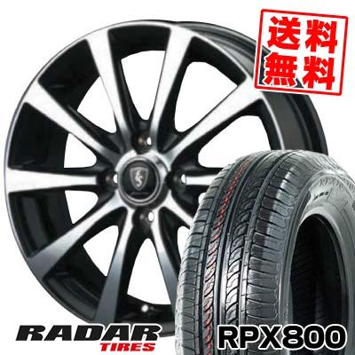 195/45R15 78V RADAR レーダー RPX800 アールピーエックス ハッピャク EuroSpeed BL10 ユーロスピード BL10 サマータイヤホイール4本セット