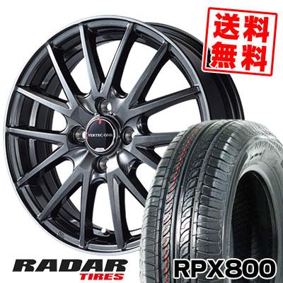 195/45R15 78V RADAR レーダー RPX800 アールピーエックス ハッピャク VERTEC ONE Eins.1 ヴァーテック ワン アインス ワン サマータイヤホイール4本セット