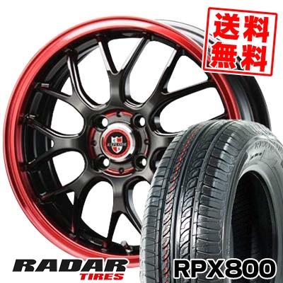 195/45R17 85W XL RADAR レーダー RPX800 アールピーエックス ハッピャク EXPLODE-RBM エクスプラウド RBM サマータイヤホイール4本セット