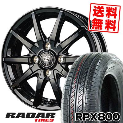 195/45R15 78V RADAR レーダー RPX800 アールピーエックス ハッピャク TRG-GB10 TRG GB10 サマータイヤホイール4本セット
