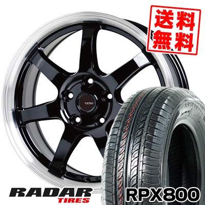195/60R15 88H RADAR レーダー RPX800 アールピーエックス ハッピャク G.speed P-03 ジースピード P-03 サマータイヤホイール4本セット