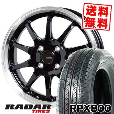 195/45R15 78V RADAR レーダー RPX800 アールピーエックス ハッピャク G.speed P-04 ジースピード P-04 サマータイヤホイール4本セット