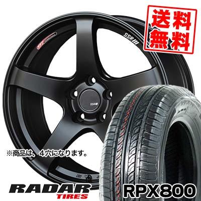 195/40R17 81W XL RADAR レーダー RPX800 アールピーエックス ハッピャク SSR GTV01 SSR GTV01 サマータイヤホイール4本セット
