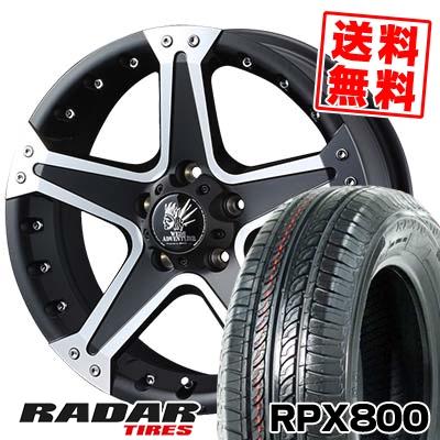 205/55R16 94W XL RADAR レーダー RPX800 アールピーエックス ハッピャク MUD VANCE01 マッドヴァンス01 サマータイヤホイール4本セット