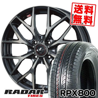 195/40R17 81W XL RADAR レーダー RPX800 アールピーエックス ハッピャク weds LEONIS MX ウェッズ レオニス MX サマータイヤホイール4本セット