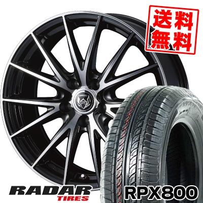 195/60R15 88H RADAR レーダー RPX800 アールピーエックス ハッピャク WEDS RIZLEY VS ウェッズ ライツレー VS サマータイヤホイール4本セット