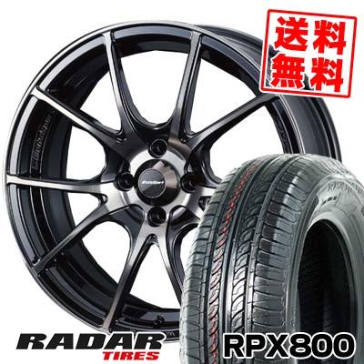 195/45R17 85W XL RADAR レーダー RPX800 アールピーエックス ハッピャク wedsSport SA-10R ウエッズスポーツ SA10R サマータイヤホイール4本セット