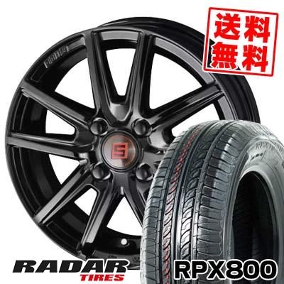 165/70R14 81T RADAR レーダー RPX800 アールピーエックス ハッピャク SEIN SS BLACK EDITION ザイン エスエス ブラックエディション サマータイヤホイール4本セット