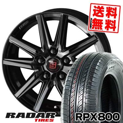 215/70R15 98T RADAR レーダー RPX800 アールピーエックス ハッピャク SEIN SS BLACK EDITION ザイン エスエス ブラックエディション サマータイヤホイール4本セット