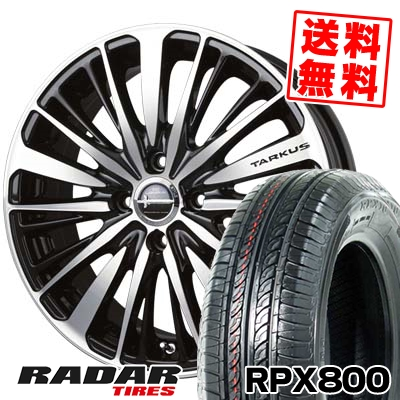 195/45R17 85W XL RADAR レーダー RPX800 アールピーエックス ハッピャク BADX LOXARNY TARKUS バドックス ロクサーニ タルカス サマータイヤホイール4本セット