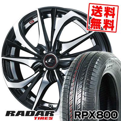 195/45R17 85W XL RADAR レーダー RPX800 アールピーエックス ハッピャク weds LEONIS TE ウェッズ レオニス TE サマータイヤホイール4本セット