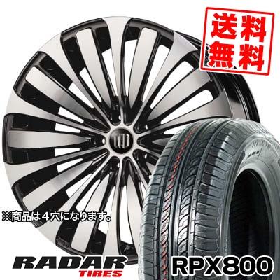 195/40R17 81W XL RADAR レーダー RPX800 アールピーエックス ハッピャク GARSON D.A.D VELUGA ギャルソン DAD ヴェルーガ(ベルーガ) サマータイヤホイール4本セット
