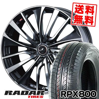 205/55R16 94W XL RADAR レーダー RPX800 アールピーエックス ハッピャク weds LEONIS VT ウエッズ レオニス VT サマータイヤホイール4本セット
