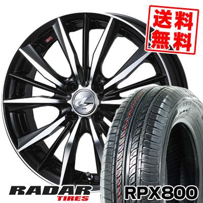 195/45R17 85W XL RADAR レーダー RPX800 アールピーエックス ハッピャク weds LEONIS VX ウエッズ レオニス VX サマータイヤホイール4本セット
