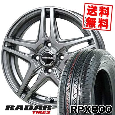 165/70R14 81T RADAR レーダー RPX800 アールピーエックス ハッピャク WAREN W04 ヴァーレン W04 サマータイヤホイール4本セット
