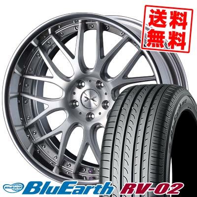 225/40R19 93W XL YOKOHAMA ヨコハマ BLUE EARTH RV02 ブルーアース RV-02 weds MAVERICK 709M ウエッズ マーベリック 709M サマータイヤホイール4本セット