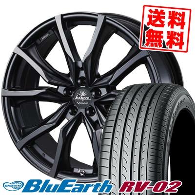 245/35R20 95W XL YOKOHAMA ヨコハマ BLUE EARTH RV02 ブルーアース RV02 2080-5H ウエッズ クレンツェ ヴェラーエ 713EVO サマータイヤホイール4本セット