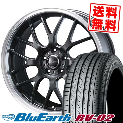 235/65R18 106V YOKOHAMA ヨコハマ BLUE EARTH RV02 ブルーアース RV-02 Eoro Sport Type 805 ユーロスポーツ タイプ805 サマータイヤホイール4本セット