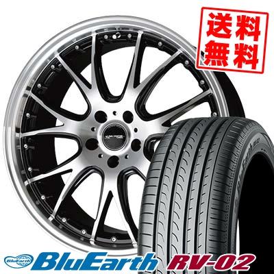 235/55R17 103W XL YOKOHAMA ヨコハマ BLUE EARTH RV02 ブルーアース RV-02 Precious AST M2 プレシャス アスト M2 サマータイヤホイール4本セット