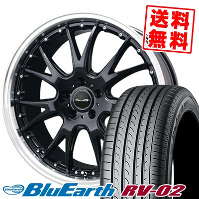 225/55R18 98V YOKOHAMA ヨコハマ BLUE EARTH RV02 ブルーアース RV-02 Precious AST M2 プレシャス アスト M2 サマータイヤホイール4本セット