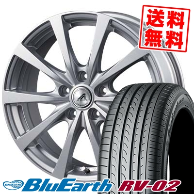 215/65R15 96H YOKOHAMA ヨコハマ BLUE EARTH RV02 ブルーアース RV-02 AZ SPORTS EX10 AZスポーツ EX10 サマータイヤホイール4本セット