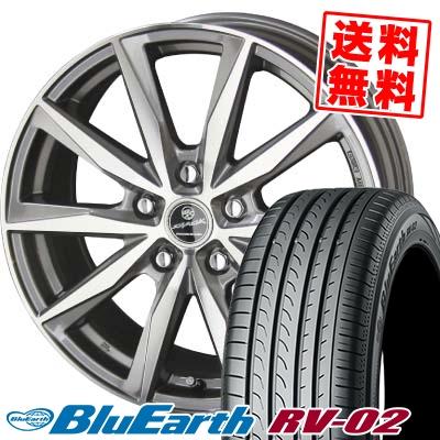 195/65R15 91H YOKOHAMA ヨコハマ BLUE EARTH RV02 ブルーアース RV-02 SMACK BASALT スマック バサルト サマータイヤホイール4本セット