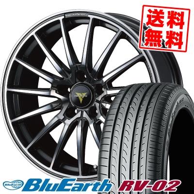 215/45R18 93W XL YOKOHAMA ヨコハマ BLUE EARTH RV02 ブルーアース RV-02 WEDS NOVARIS BEONDE FL ウェッズ ノヴァリス ビオンド FL サマータイヤホイール4本セット