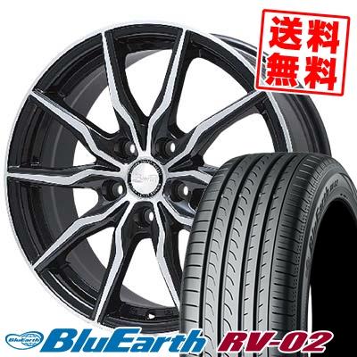 215/60R16 95H YOKOHAMA ヨコハマ BLUE EARTH RV02 ブルーアース RV-02 B-win KRX B-win KRX サマータイヤホイール4本セット