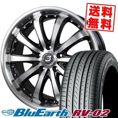 245/35R20 95W XL YOKOHAMA ヨコハマ BLUE EARTH RV02 ブルーアース RV02 2080-5H バドックス ロクサーニ EX バイロンスティンガー サマータイヤホイール4本セット