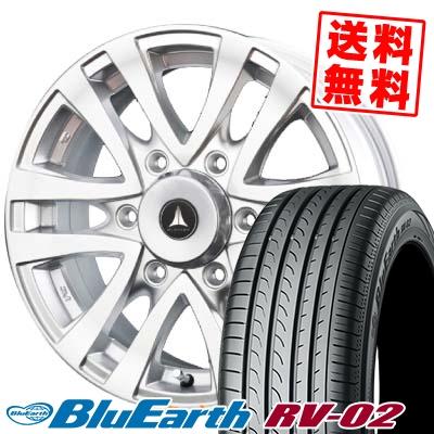 215/65R15 96H YOKOHAMA ヨコハマ BLUE EARTH RV02 ブルーアース RV02 MUD CLIFF マッドクリフ サマータイヤホイール4本セット