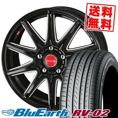 205/65R15 94H YOKOHAMA ヨコハマ BLUE EARTH RV02 ブルーアース RV02 RIVAZZA CORSE リヴァッツァ コルセ サマータイヤホイール4本セット