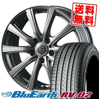 225/55R18 98V YOKOHAMA ヨコハマ BLUE EARTH RV02 ブルーアース RV-02 CLAIRE DG10 クレール DG10 サマータイヤホイール4本セット