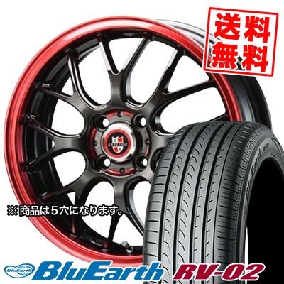 215/45R17 91W XL YOKOHAMA ヨコハマ BLUE EARTH RV02 ブルーアース RV-02 EXPLODE-RBM エクスプラウド RBM サマータイヤホイール4本セット