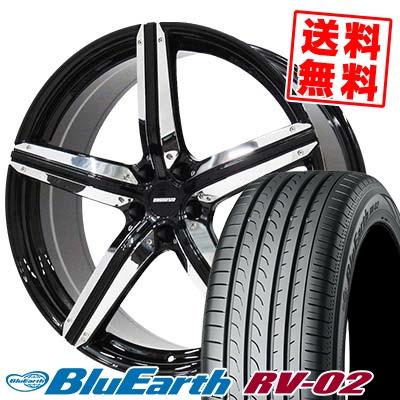 245/35R20 95W XL YOKOHAMA ヨコハマ BLUE EARTH RV02 ブルーアース RV-02 ESTATUS Style-CTR エステイタス スタイルCTR サマータイヤホイール4本セット