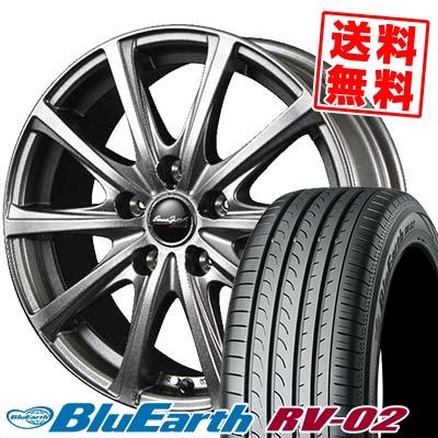 225/60R17 99H YOKOHAMA ヨコハマ BLUE EARTH RV02 ブルーアース RV-02 EuroSpeed V25 ユーロスピード V25 サマータイヤホイール4本セット