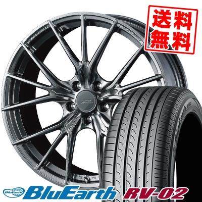 245/35R20 95W XL YOKOHAMA ヨコハマ BLUE EARTH RV02 ブルーアース RV-02 WEDS F ZERO FZ-1 ウェッズ エフゼロ FZ-1 サマータイヤホイール4本セット