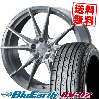 245/40R20 99W XL YOKOHAMA ヨコハマ BLUE EARTH RV02 ブルーアース RV-02 WEDS F ZERO FZ-2 ウェッズ エフゼロ FZ-2 サマータイヤホイール4本セット