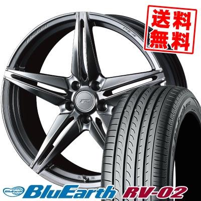 245/45R19 98W YOKOHAMA ヨコハマ BLUE EARTH RV02 ブルーアース RV-02 WEDS F ZERO FZ-3 ウェッズ エフゼロ FZ-3 サマータイヤホイール4本セット