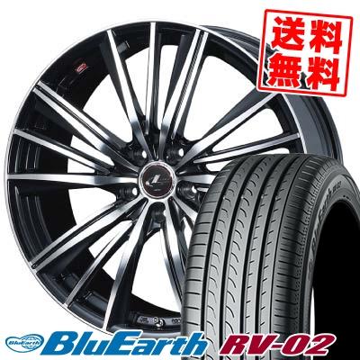 195/60R16 89H YOKOHAMA ヨコハマ BLUE EARTH RV02 ブルーアース RV-02 weds LEONIS FY ウェッズ レオニス FY サマータイヤホイール4本セット